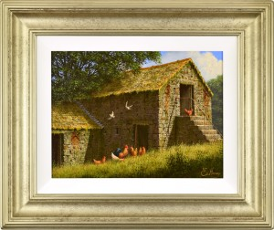 Edward_Hersey_Old_Barns_Framed