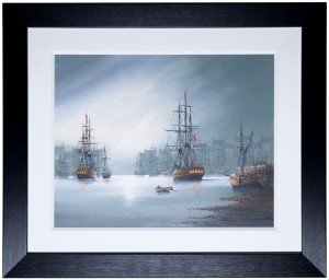 Ken-Hammond-galleons-FRAMED