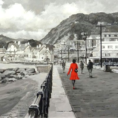 Richard-Telford-Lady-in-Red-Sidmouth-Esplanade-PRODUCT