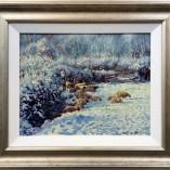 Stephen-Hawkins-Sheep-in-Snow-FRAMED