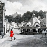 Richard-Telford-Red-Lady-With-Dog-Dunster-NOFRAME