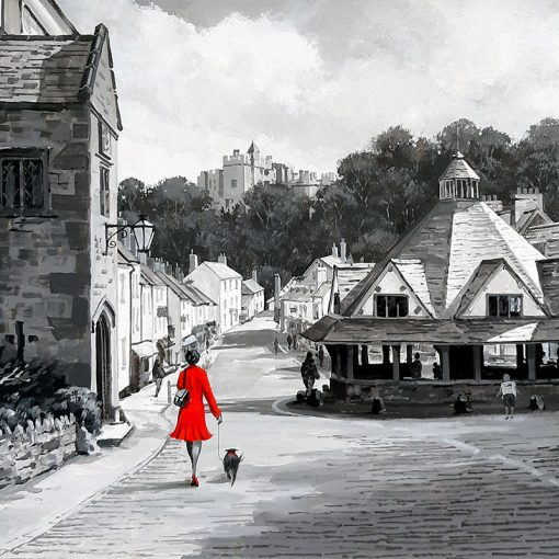 Richard-Telford-Red-Lady-With-Dog-Dunster-PRODUCT